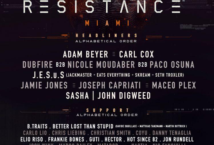 Resistance Miami Lineup 2018 1